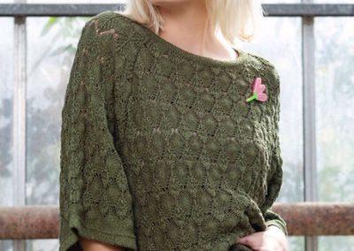 Dame Blanche groene trui