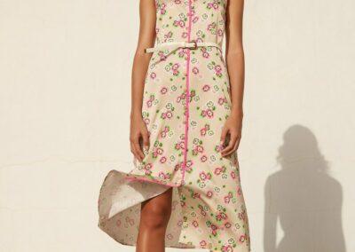 Atmos beige/roze lange jurk