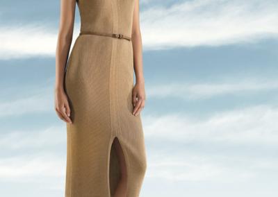 Senso Lange bruine jurk