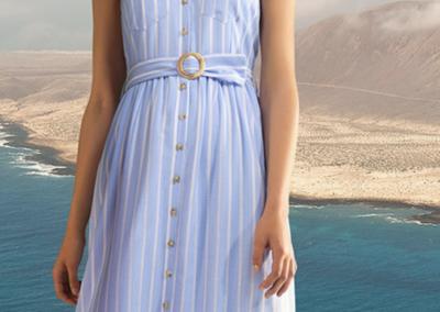 Senso blauwe jurk